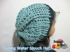 Crochet tutorial that teaches you how to crochet a slouch hat using V stitches and front post double crochets. For written pattern http://www.meladorascreati...