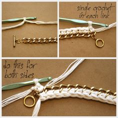 DIY Crocheted Bracelet Crochet