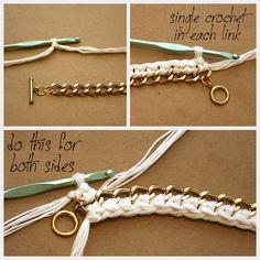 DIY Crocheted Bracelet Crochet
