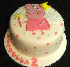 Peppa Pig 2nd Birthday Celebration Cake