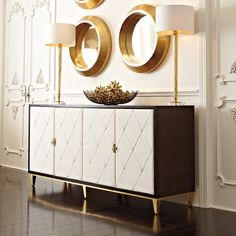 Display your personal style and store your belongings in a beautiful cabinet that complements your space. Stop by Katzberry and shop our luxury home furniture and accessories today! Decor Interior Design, Modern Interior, Modern Buffet, Modern Sideboard, Dining Room Buffet, Bernhardt Furniture, Cabinet Decor, Sideboard Cabinet, Credenza