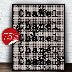 Chanel Poster Black and White Monochrome от ArtBoutiqueButterfly