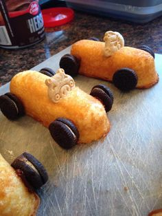 Pinewood Derby Snack Cars for Cub Scouts | coppercarla