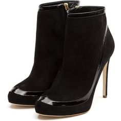 Rupert Sanderson High Heel Platform Booties (35.510 RUB) ❤ liked on Polyvore featuring shoes, boots, ankle booties, heels, booties, ankle boots, black booties, black platform booties, high heel ankle boots and black high heel booties