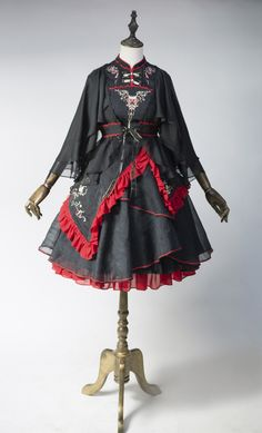 Arcadian Deer -Kylin- Embroidery Qi Lolita Dress Set