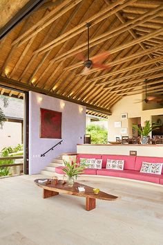 In the past few years, bamboo has become quite common in garden plants. In any case, the bamboo will most likely crack. One should make certain they are employing apt bamboo for the continuing appl… Bamboo House Design, Tropical House Design, Tropical Houses, House Bali, Beach House, Sala Tropical, Rest House, Bamboo Architecture, Boho Home