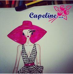 Capeline + pied de poule