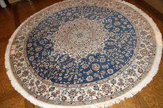 丸い絨毯、円形手織りペルシャ絨毯36564