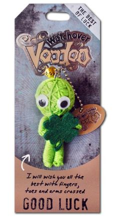 "Groovy Mover 3/"" New Lucky Charm Watchover Voodoo Doll"