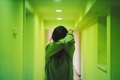 Image de girl, green, and grunge