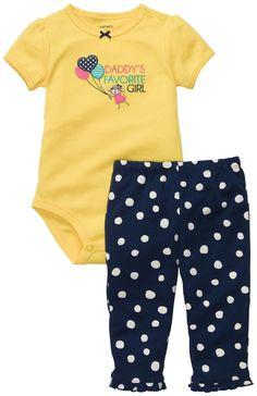 Amazon.com: Carter's Baby Girls Monkey 2-piece Bodysuit Pant Set (NB-24M): Infant And Toddler Pants Clothing Sets: Clothing $14.99