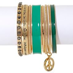 """Music Culture """"Let it Be"""" Set of 8 Bangles"""