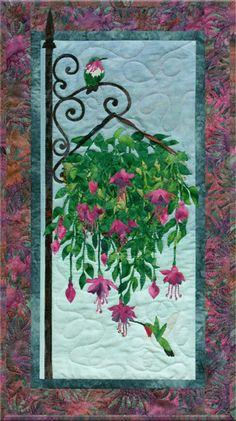 Colorful Fuschia & Hummingbirds Quilt