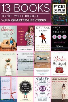 A Reading Guide For Surviving Your Quarter-Life Crisis.I don't think I've had a life crisis yet.but I could check em out Reading Lists, Book Lists, Reading Books, Reading Den, Yoga Books, Quarter Life Crisis, Make Up Anleitung, Reading Rainbow, Lectures