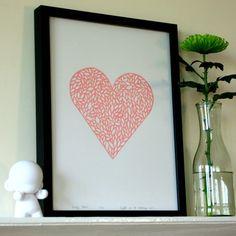 heart design. Cross stitch gift