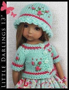 OOAK-Aqua-Pink-Outfit-for-Little-Darlings-Effner-13-by-Maggie-Kate-Create