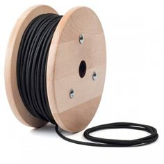 Black fabric cable