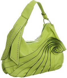 Purse Boutique: Light Green Large Jazzd ''Runway'' Hobo Handbag, Purses