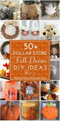 50 Dollar Store Fall Decor Ideas #diy #diycrafts #fall #falldecor #falldecorations #fallcenterpieces #fallwreaths