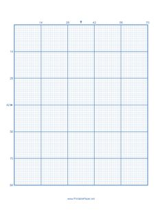 This cross-stitch paper has 14 lines per major division and is not to scale; each minor division measures 1/10 of an inch. Free to download and print