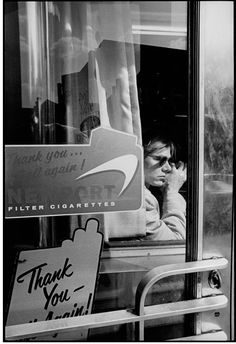 Andy Warhol at New York City Diner,spring 1965 by David McCabe