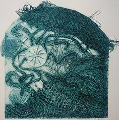 Cathy King. Fish Trap 2. 2010  Collagraph