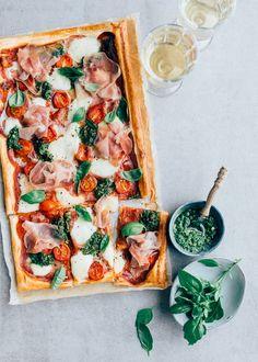 Italiaanse plaattaart met prosciutto - Uit Pauline's Keuken