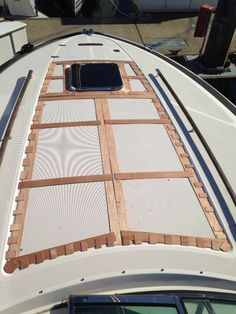 Templates on bow of a Chris Craft 36 corsair