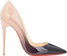 Christian Louboutin Degrade Patent So Kate Pumps-Black