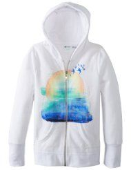 Icy White Roxy Girls zip up hoodie with touching graphics! $32.99 http://www.hotzipuphoodies.com/roxy-girls-zip-hoodies/ #white #roxy #girls #zip #up #hoodie