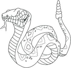 125 best snake coloring pages KIDS images on Pinterest | Coloring ...
