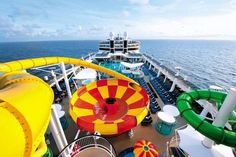 Shoot down thrilling waterslides at the Aqua Park onboard Norwegian Epic for Avoya Travel's Daily Escape!