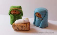 Diário de um Creamamma: Dentro do Calendário de Advento (6): Natividade com rolhas
