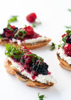 Mixed berry bruschet