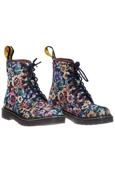 ROMWE | ROMWE Floral Print Lace-up Ankle Boots, The Latest Street Fashion