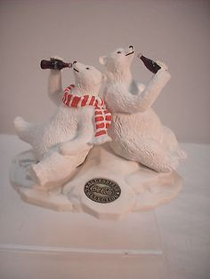 CoCa-Cola,  Heritage Collection 1996, Polar Bear and Friend figurine - http://collectibles.goshoppins.com/advertising/coca-cola-heritage-collection-1996-polar-bear-and-friend-figurine/