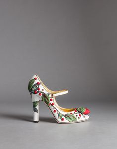 Patent leather coco mary janes with fabric rose | dolce&gabbana online store