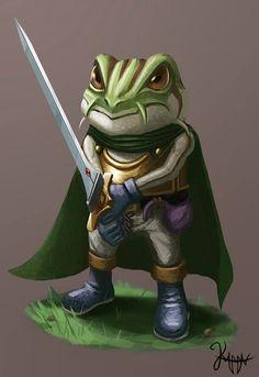 "Leonardo Batista Torres - ""fanart of Frog from Chrono Trigger"" #art #featured #digitalart #freelancetalents #artist #freelance_talents"