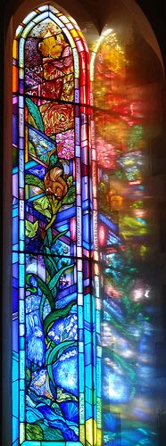 All Saints Church Denmead Hampshire UK stained glass window artist Jude Tarrant 25