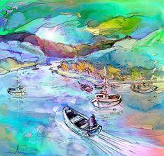 Scotland 24. Artist:Miki De Goodaboom. Medium:Painting - Mixed Technique