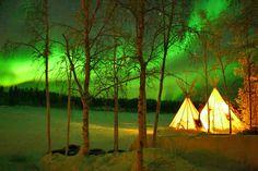 Aurora Village | Visit Yellowknife #northernlights