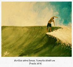 Surf paintings. Hang five. Acrílico sobre lienzo.