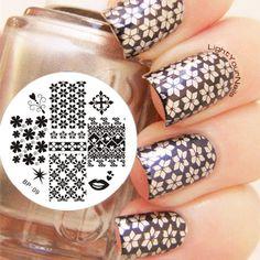 Mix Patterns Nail Art Stamp Template Image Plate BORN PRETTY BP09