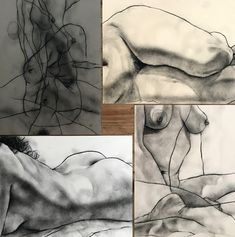 A few of my figure drawings from yesterday's session with Jessica..