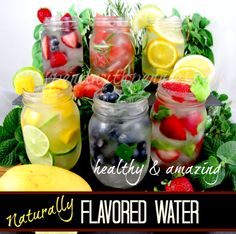 Fruit Flavored Water recipes!  These are so refreshing and a great way to help with your daily water intake! It's easy to make these at home!