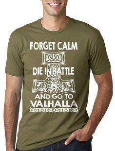 bb37560d1 Valhalla T-shirt Vikings Viking Nordic Norsemen Scandinavia T-shirt Odin tee