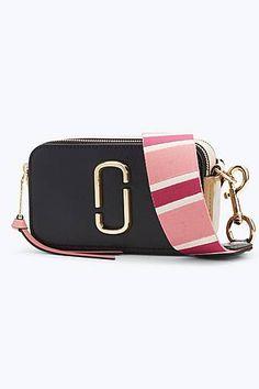 3e5333589e5e9 Marc Jacobs Snapshot Small Camera Bag in Black Gazelle