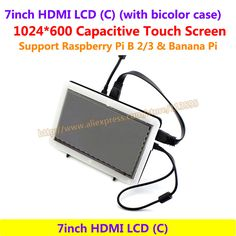 7inch HDMI LCD 1024*600 Capacitive Touch Screen Display Supports  Raspberry Pi BB Black &Banana Pi/Pro &Various System