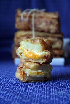 Emparedado de patata a los 3 quesos
