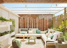 - Garden Pergola Videos - Pergola Plans How To Build - Backyard Pergola Trellis Porch And Terrace, Terrace Floor, Pergola Patio, Pergola Plans, Pergola Ideas, Outdoor Spaces, Outdoor Living, Outdoor Decor, Pergola Attached To House